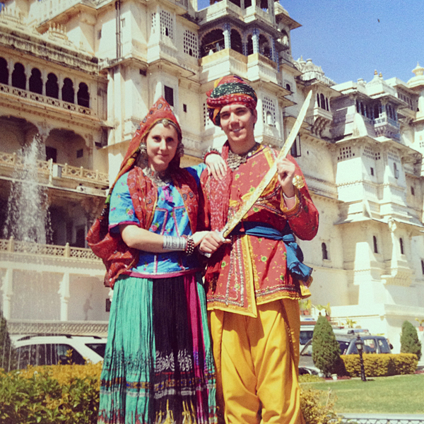 Dressing Up Like Maharajas in Udaipur